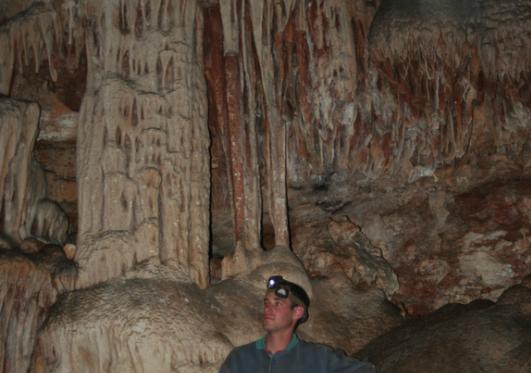 משקעי מערות בדופן המערה