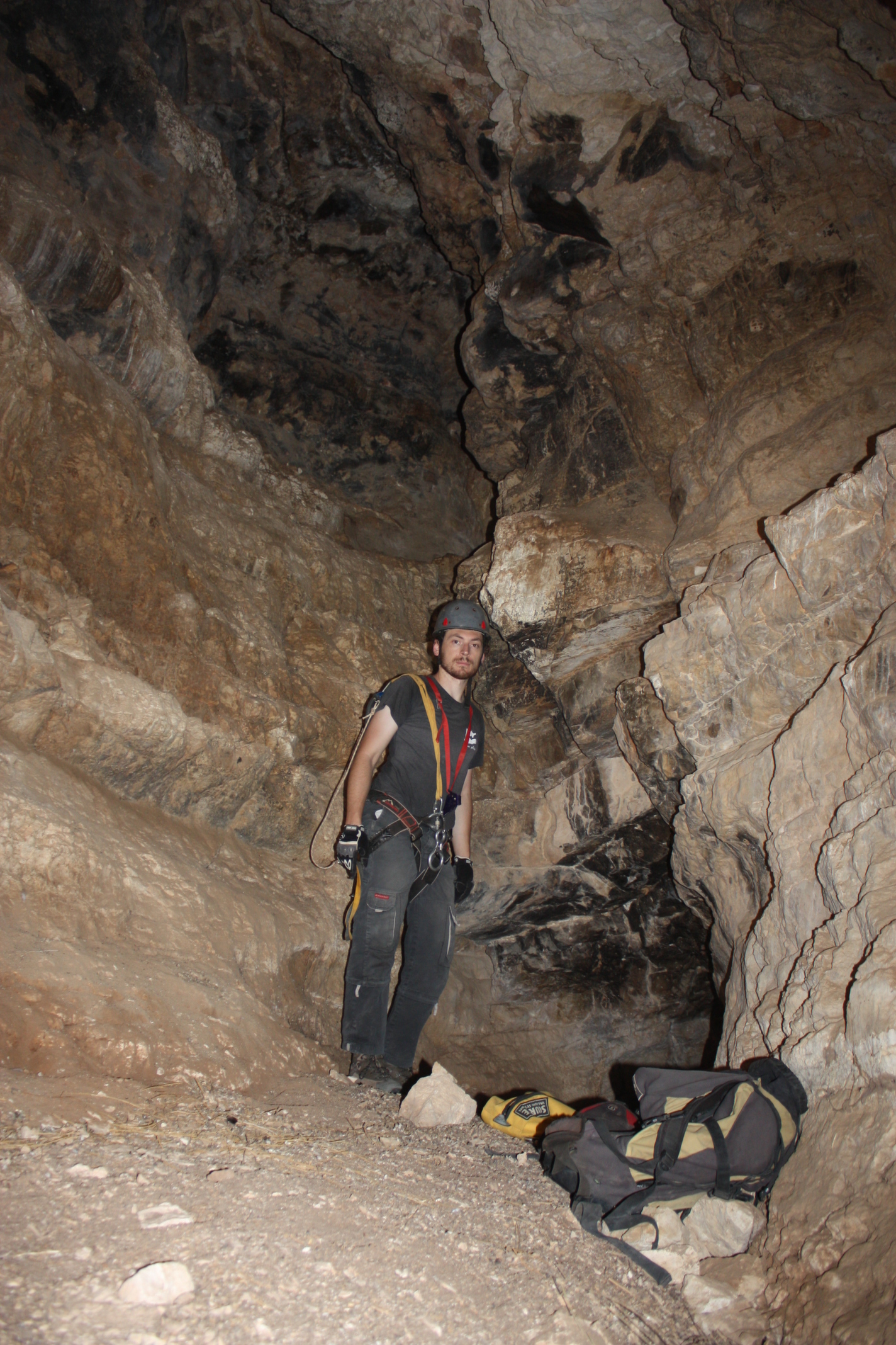 קצה מחילת המערה