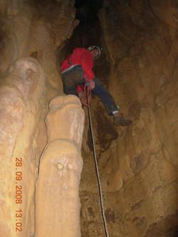 משקעי מערות בפנים הקמין