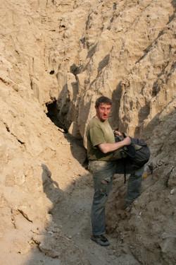 פתחה התחתון של המערה