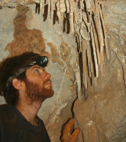 נטיפים ומשטחי זרימה - משקעי המערות במערת צבוע הם מהמרשימים בנגב