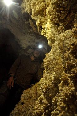 """משקעי """"פופקורן"""" - אלמוגי מערות איאוליים"""