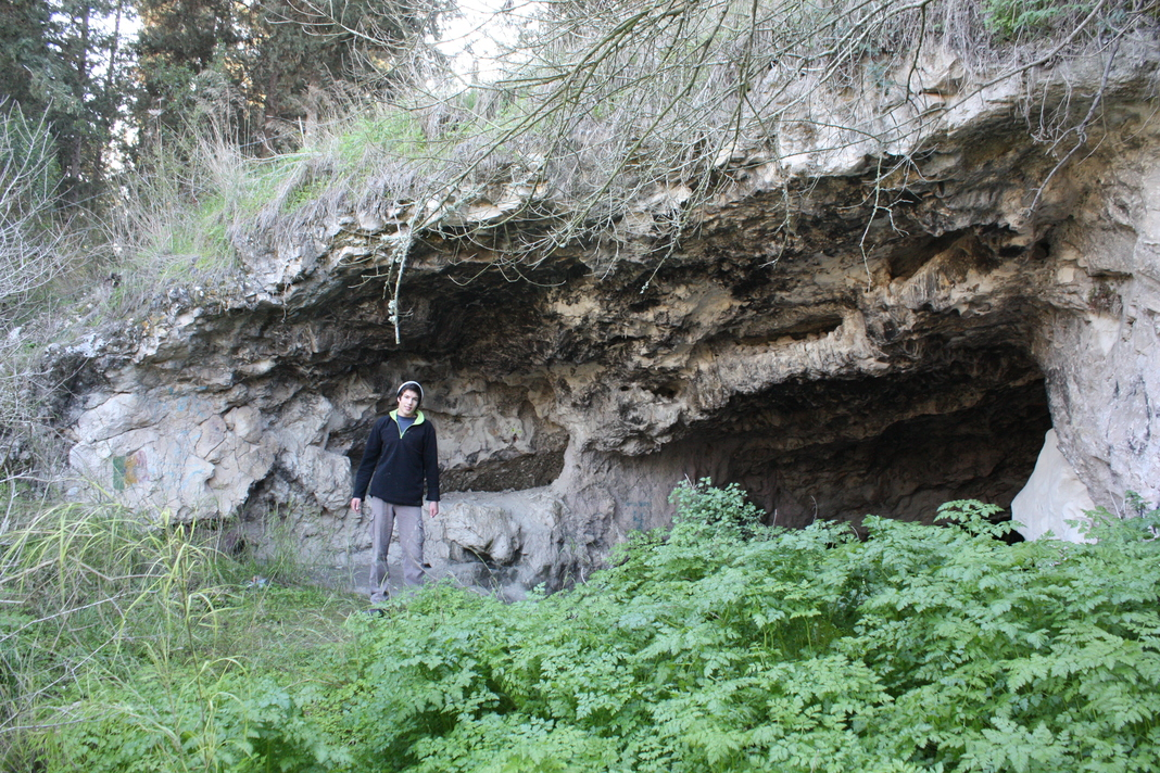 פתח המערה - מבט מבחוץ