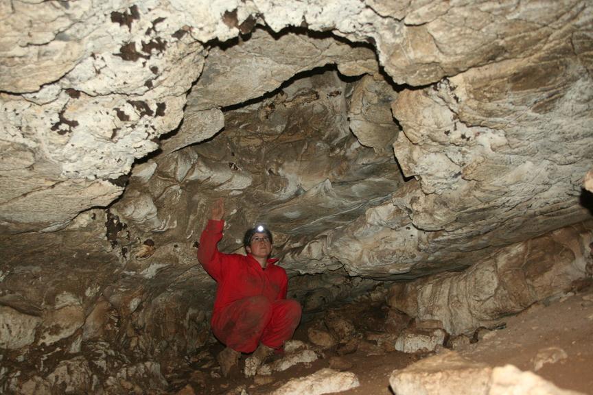 כיפת התמוטטות  במרכז חלל המערה