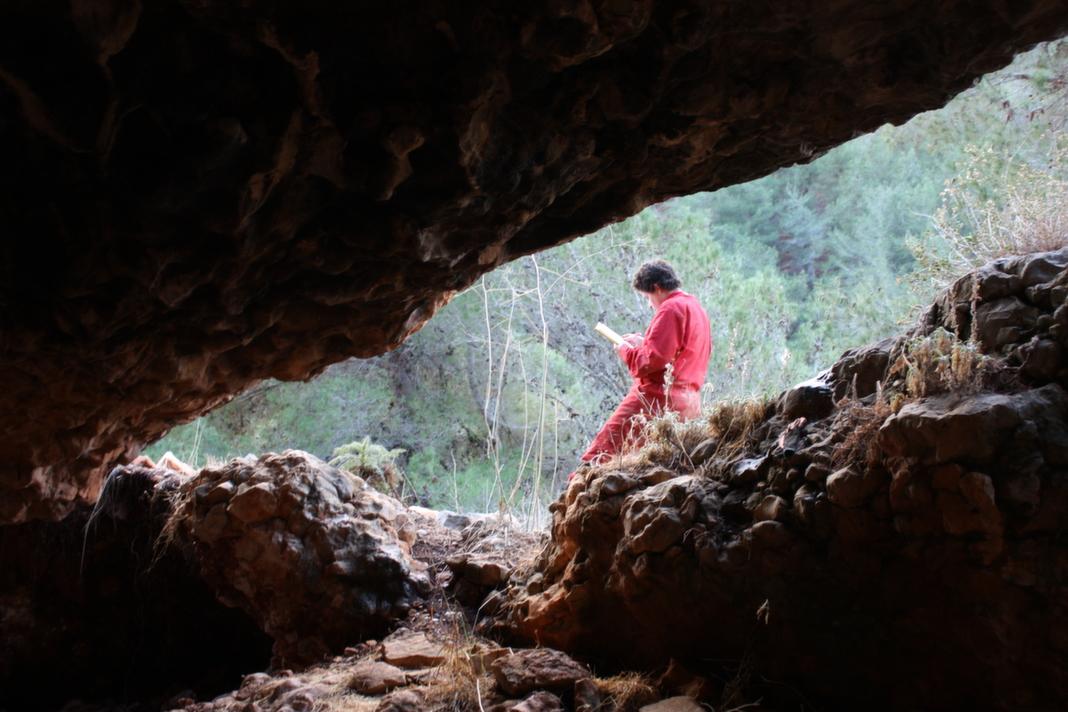 פתח המערה במבט מבפנים