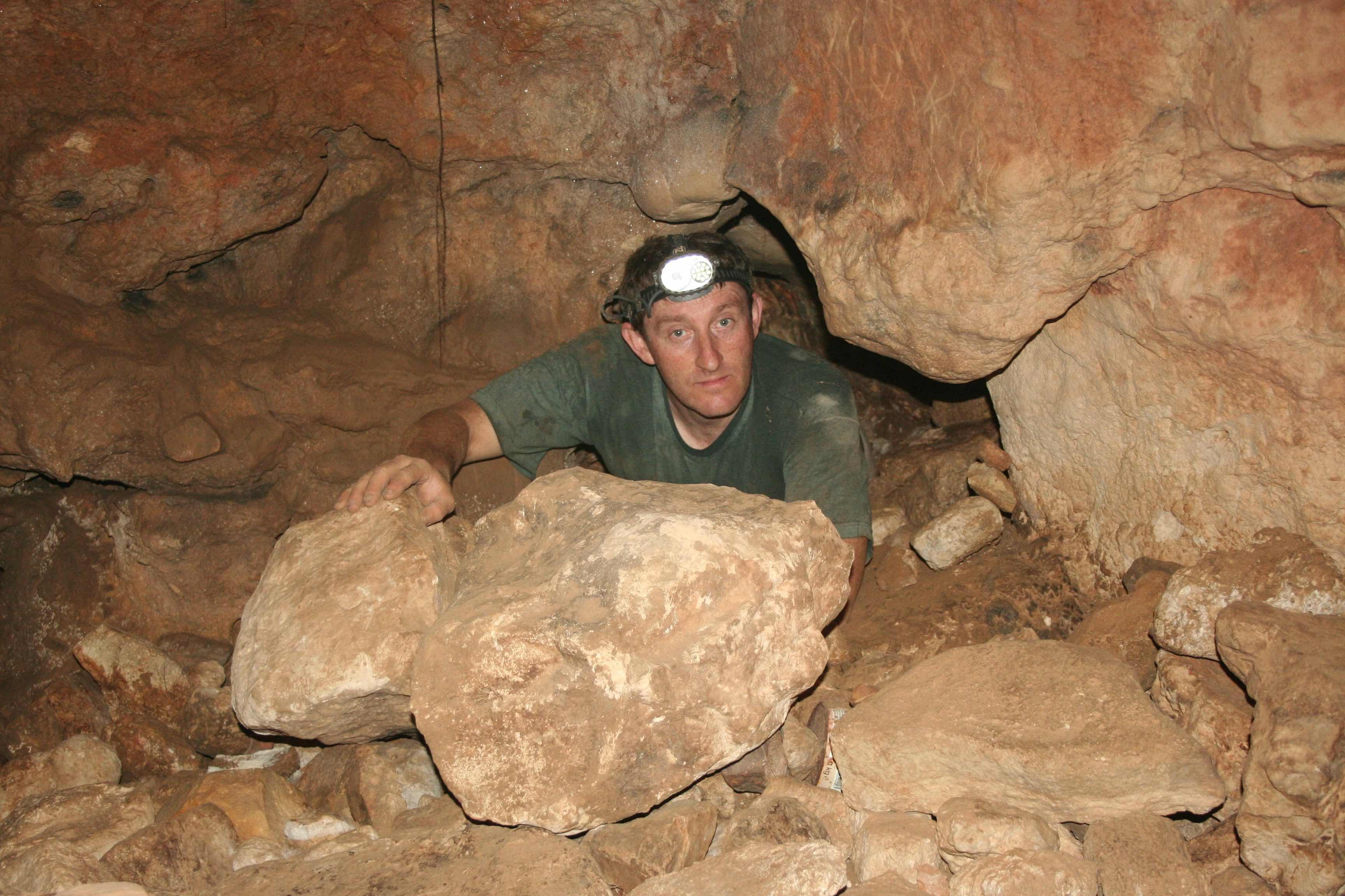 כניסה אל חלקה הפנימי של המערה