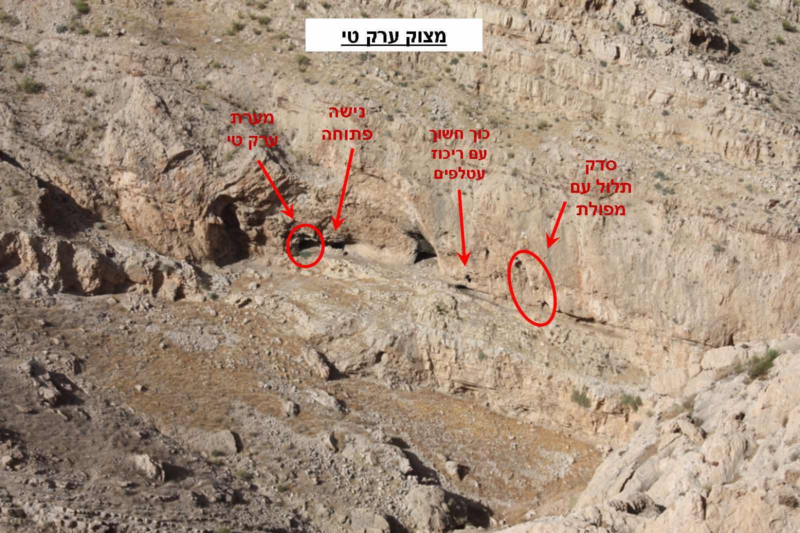 פתח המערה וסביבתו