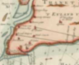 sea chart of the Thanet coast by Gerard