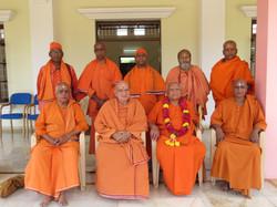 Swami Omkaranandaji with Halasuru Sri Ramakrishna Ashrama Mahatmas