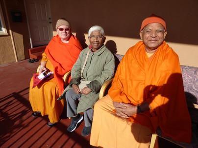 Swami Omkaranandaji, Swami Mangalanandaji and Bani Mataji