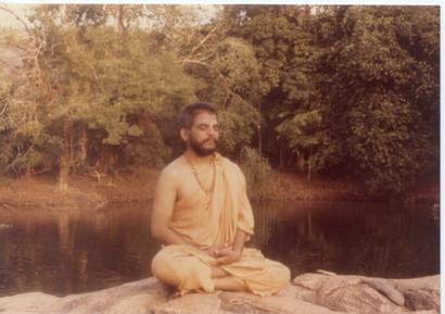 1980 January Swamiji at Kullur Mukambika