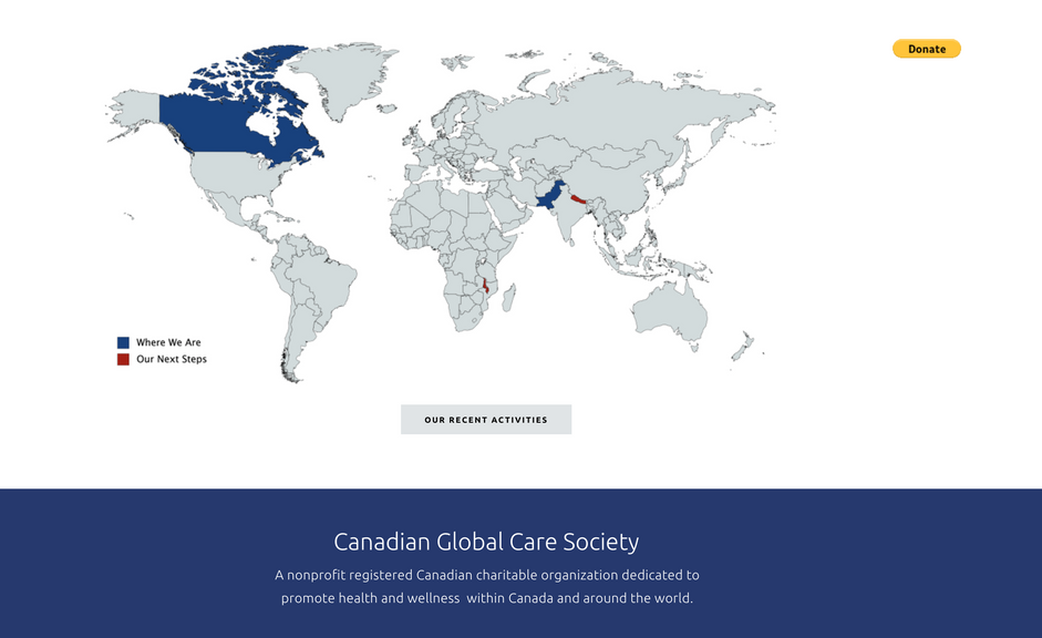 Lea Nicole Creative graphic design for Canadian Global Care Society