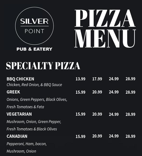 Lea Nicole Creative graphic design for Silver Point Pub