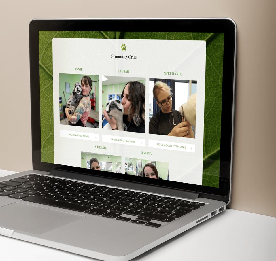 Lea Nicole Creative website design for Muttley Crue