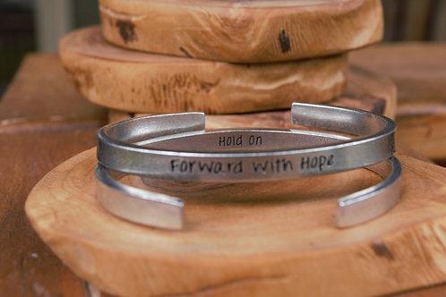 Cuff Bracelet Narrow Forward with Hope