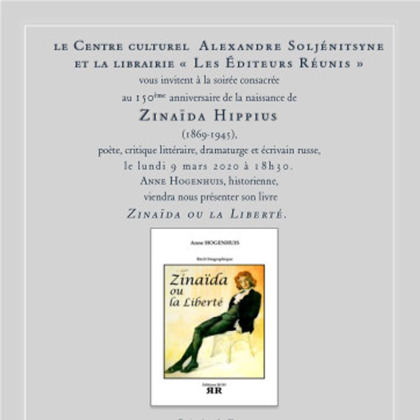 Soirée consacrée au 150ème anniversaire de la naissance de ZINAÏDA HIPPIUS
