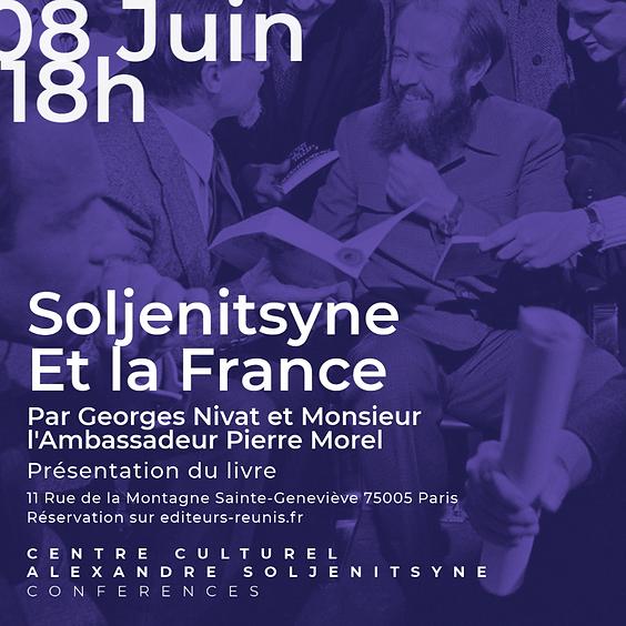"""Презентация книги Жоржа Нива и Пьера Мореля """"Солженицына и Франция""""."""