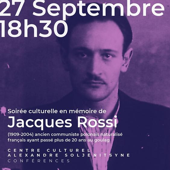 Soirée culturelle en mémoire de Jacques Rossi