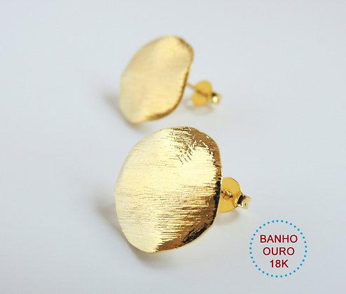 BASE BRINCO METAL BANHO OURO 18K MODELO LOUISE - 1 Par