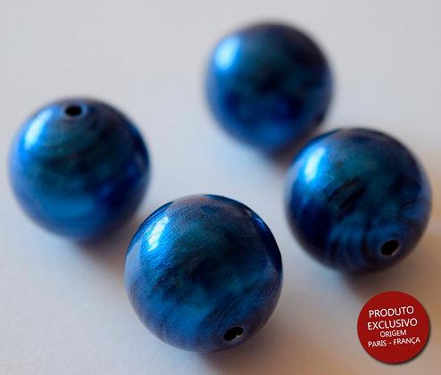 RESINADO BOLA 15 MM ( 1,5 CM ) BLUE METALIC - 1 Peça