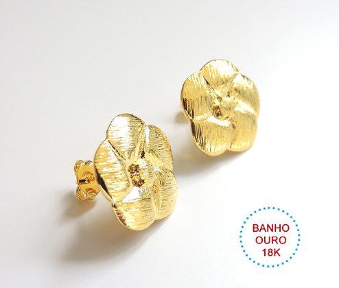 BASE DE BRINCO METAL BANHO OURO 18K MODELO CLAUDINE - 1 Par
