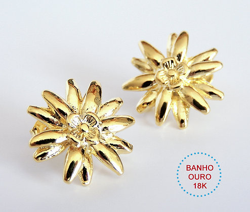 BASE DE BRINCO METAL BANHO OURO 18K MODELO LAUREN - 1 Par