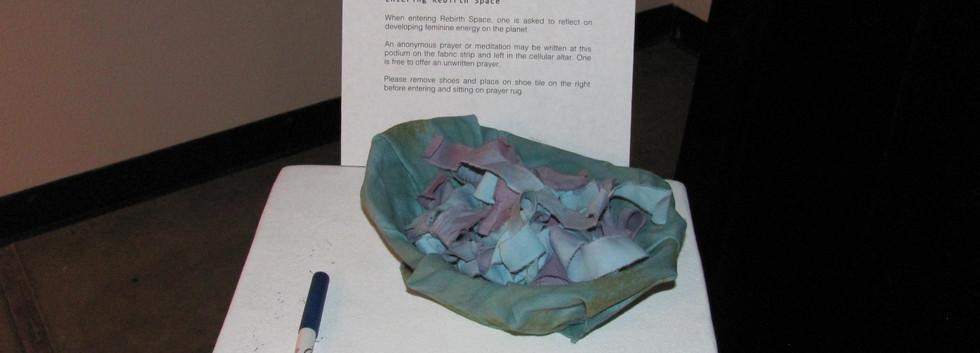 Hand dyed fiber strips for prayer