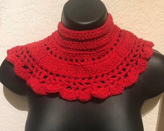 Red Crochet collar