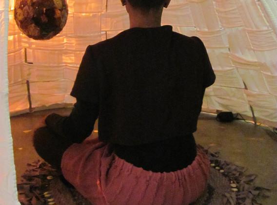 meditating inside Rebirth Space