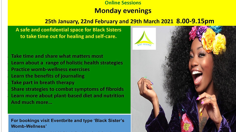 Black Sister's Womb-Wellness Sessions - Online
