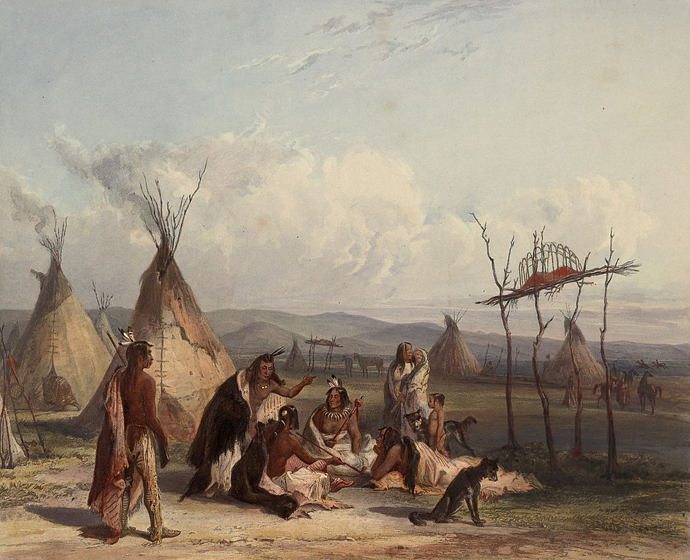 Funeral scaffold of a Sioux chief