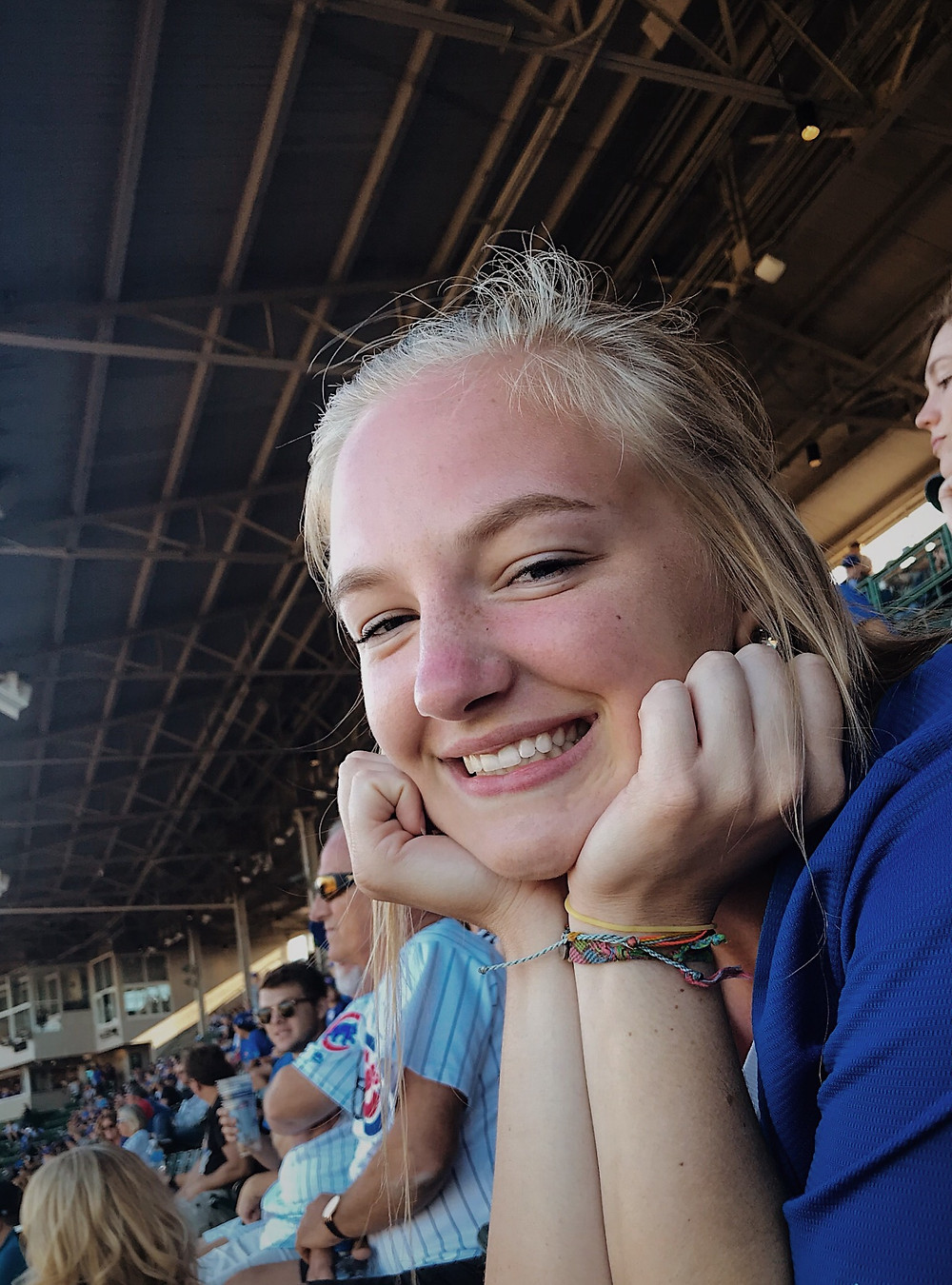 Lauren at a Cubs game.