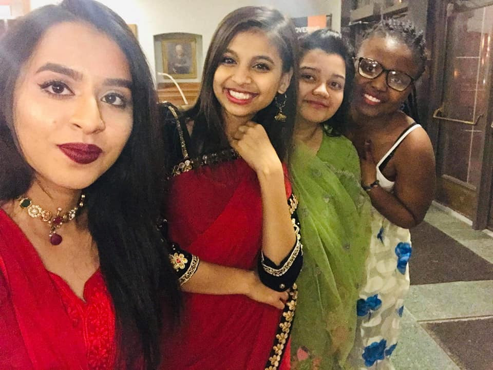 Anshika at a culture show with her friends hosted by Wartburg College.