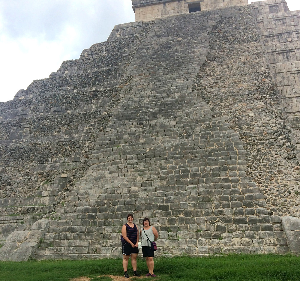 Silvia and her Mom in Mexico.