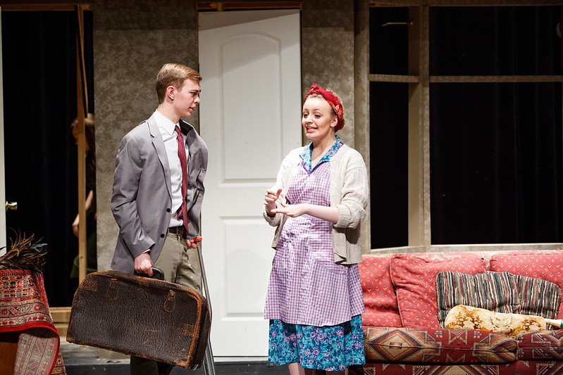 Courtney as Dotty and Nathan was Freddie in Noises Off (2018)