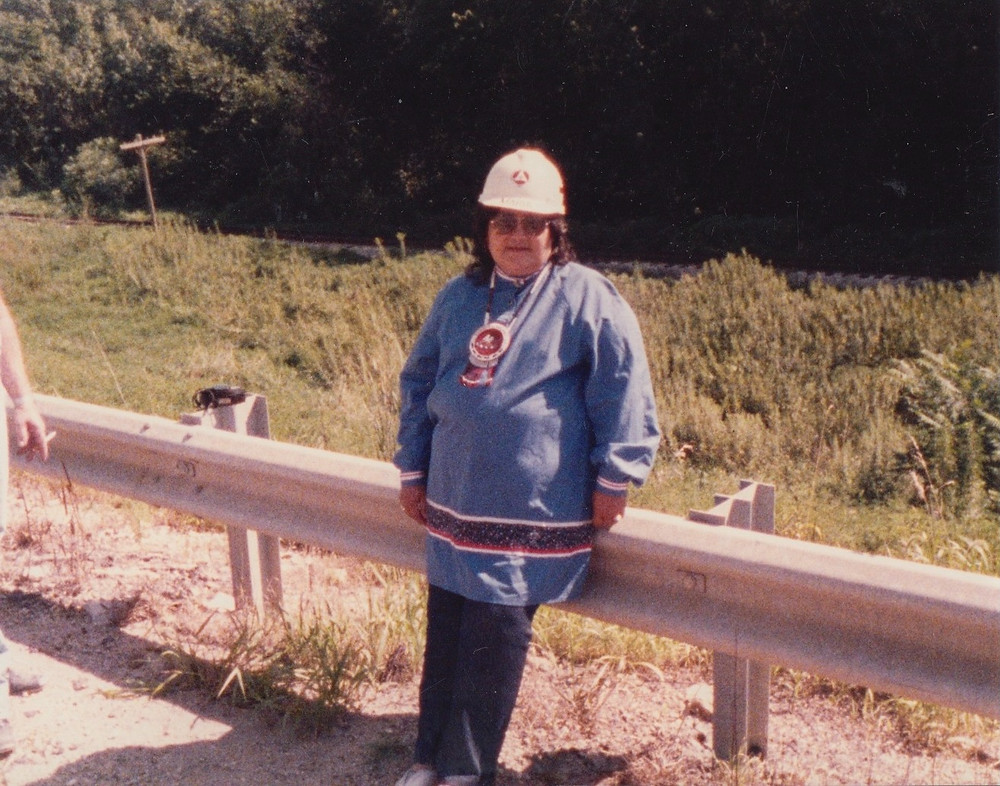 Maria Pearson at archaeological site.