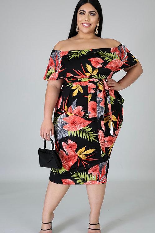 Tropical Curvy Dress