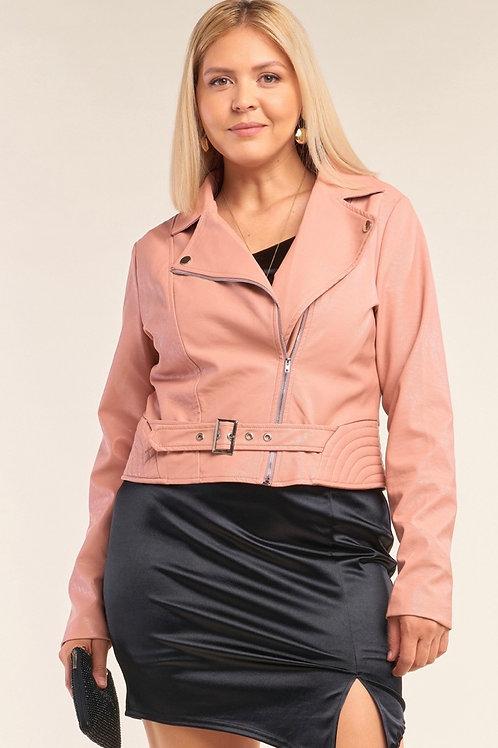 Pink Blush Leather Jacket