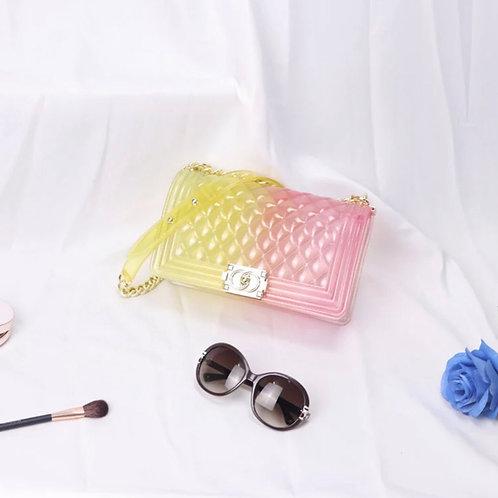 Pink/Yellow Jelly Crossbody bag