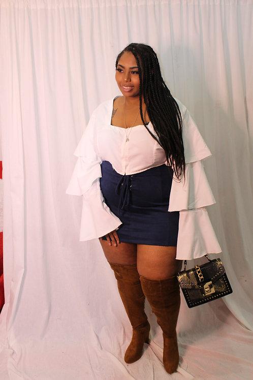 Navy Bad Girl Skirt
