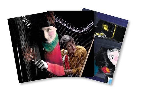 """3 cartes postales """"la note rouge"""" - offertes pour tout achat du livre-CD"""