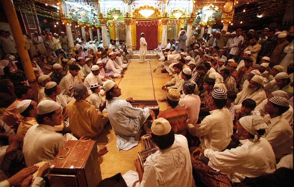 Qawali - a style of Muslim devotional music now associated particularly with Sufis.