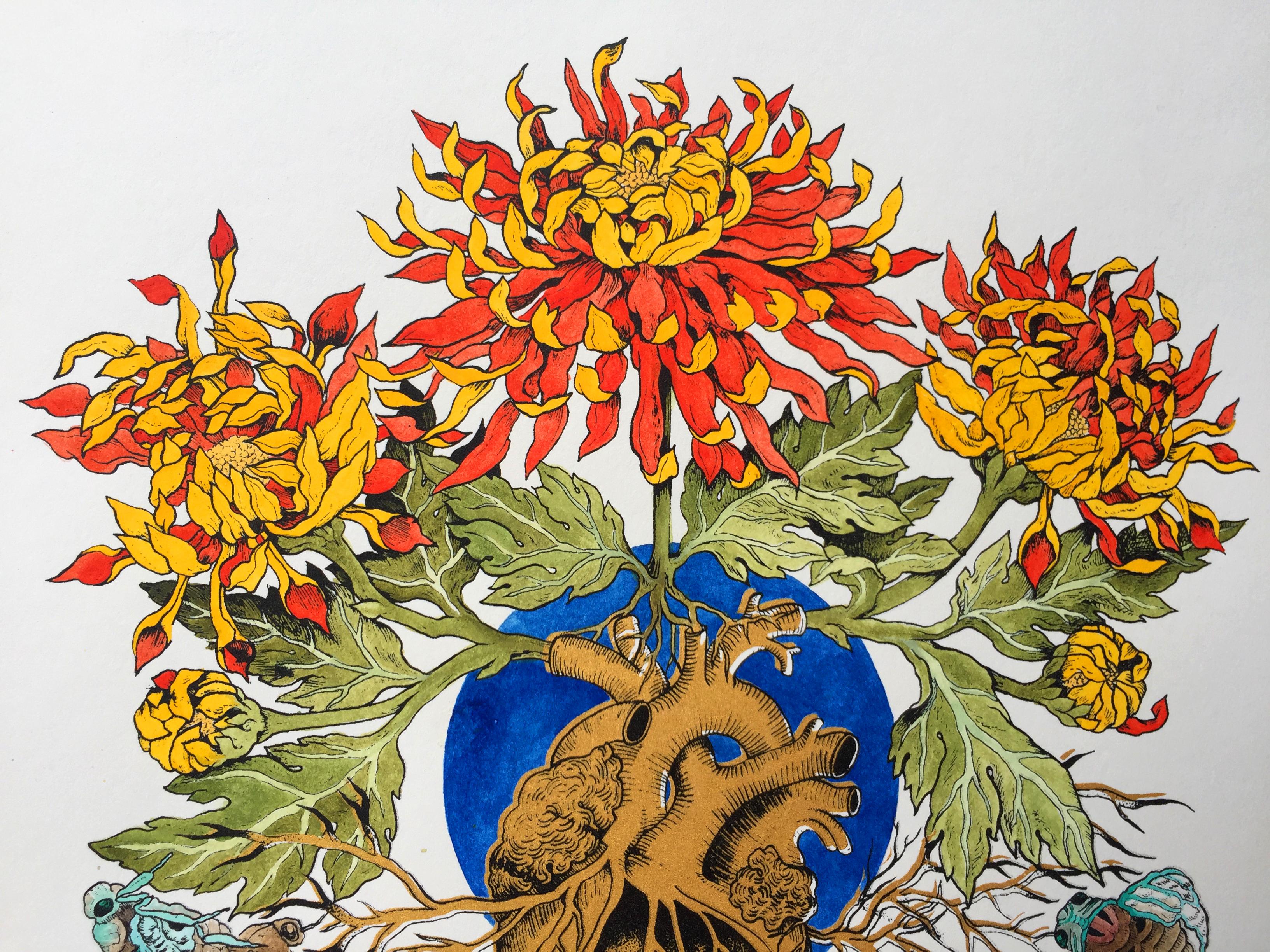 Cicada Life Cycle I flower detail