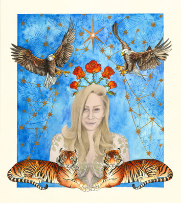 portrait of and commissioned by Julie Frost, a singer/songwriter based out of LA, California.