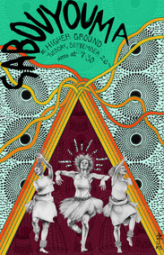 show poster for Sabouyouma, a band from Guinea, West Africa currently based out of Burlington, VT