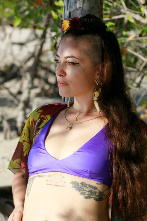 Fringe shawl in Swamp Paradise print available here at the Feisty Ink Threads shop