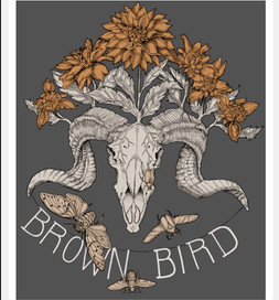 design for merchandise for Brown Bird, band based out of Providence, RI
