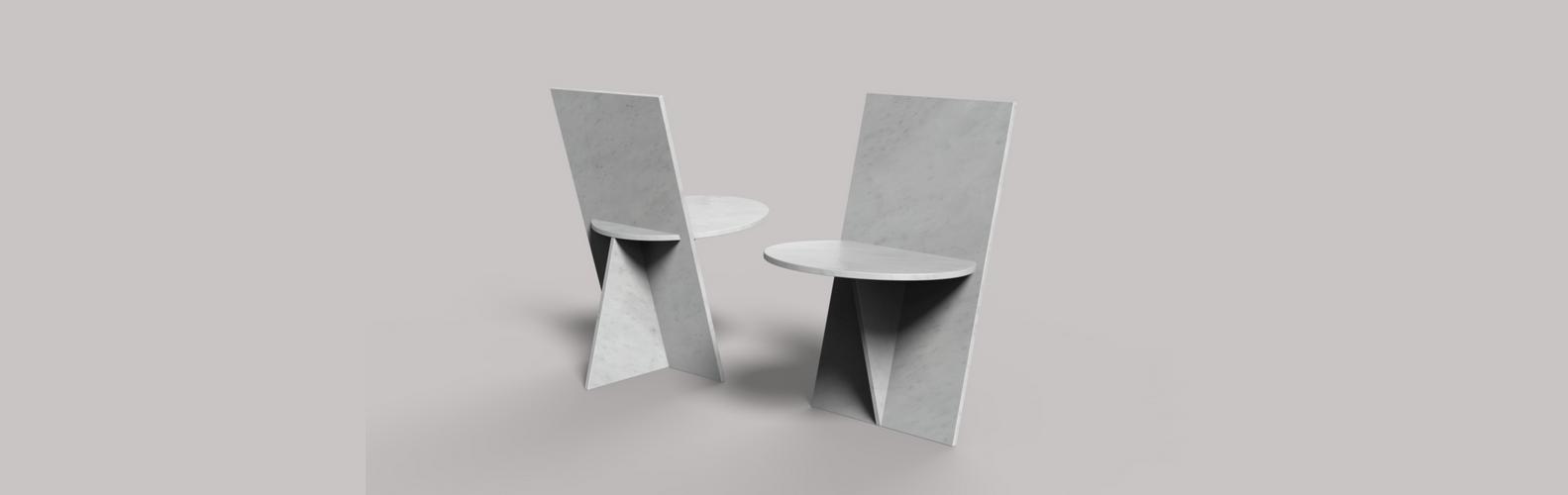 Flat Marble Chair - Marmi Sacco