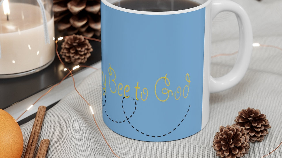 Glory Bee to God mug