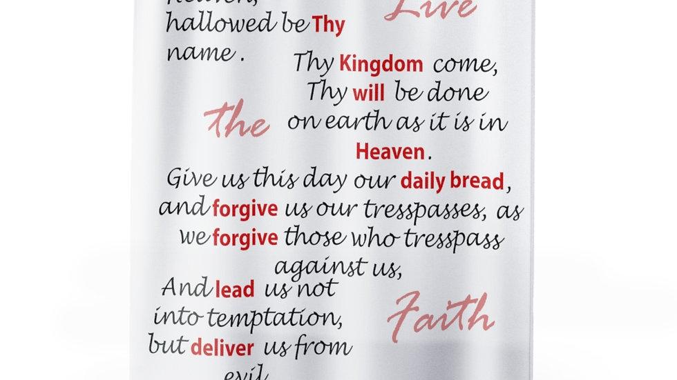 Lord's Prayer Shower Curtain-white